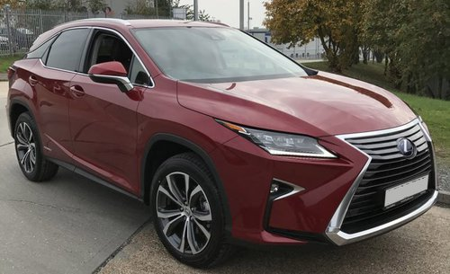 2016 Lexus RX450 red front