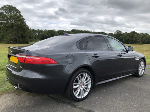 2018 Jaguar XF S rear