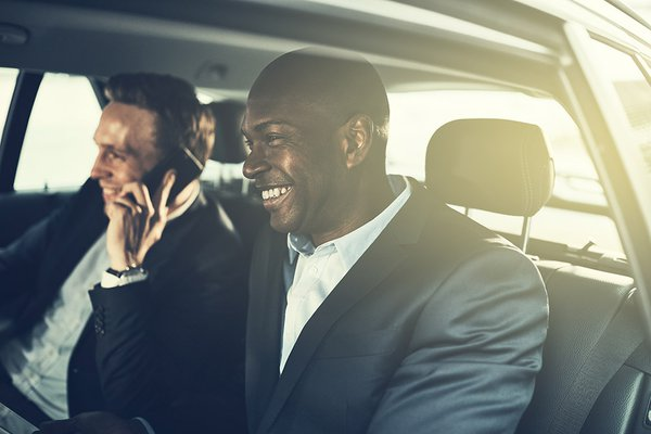 Businessman in car resized