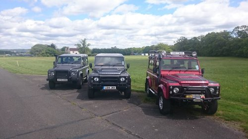 Land Rover Defender trio